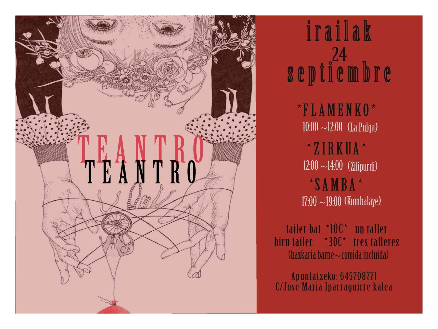 Cartel Día Cultural Teantro, Septiembre 2017
